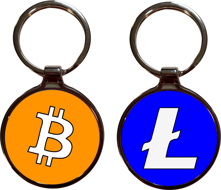 Bitcoin Litecoin Key Chain
