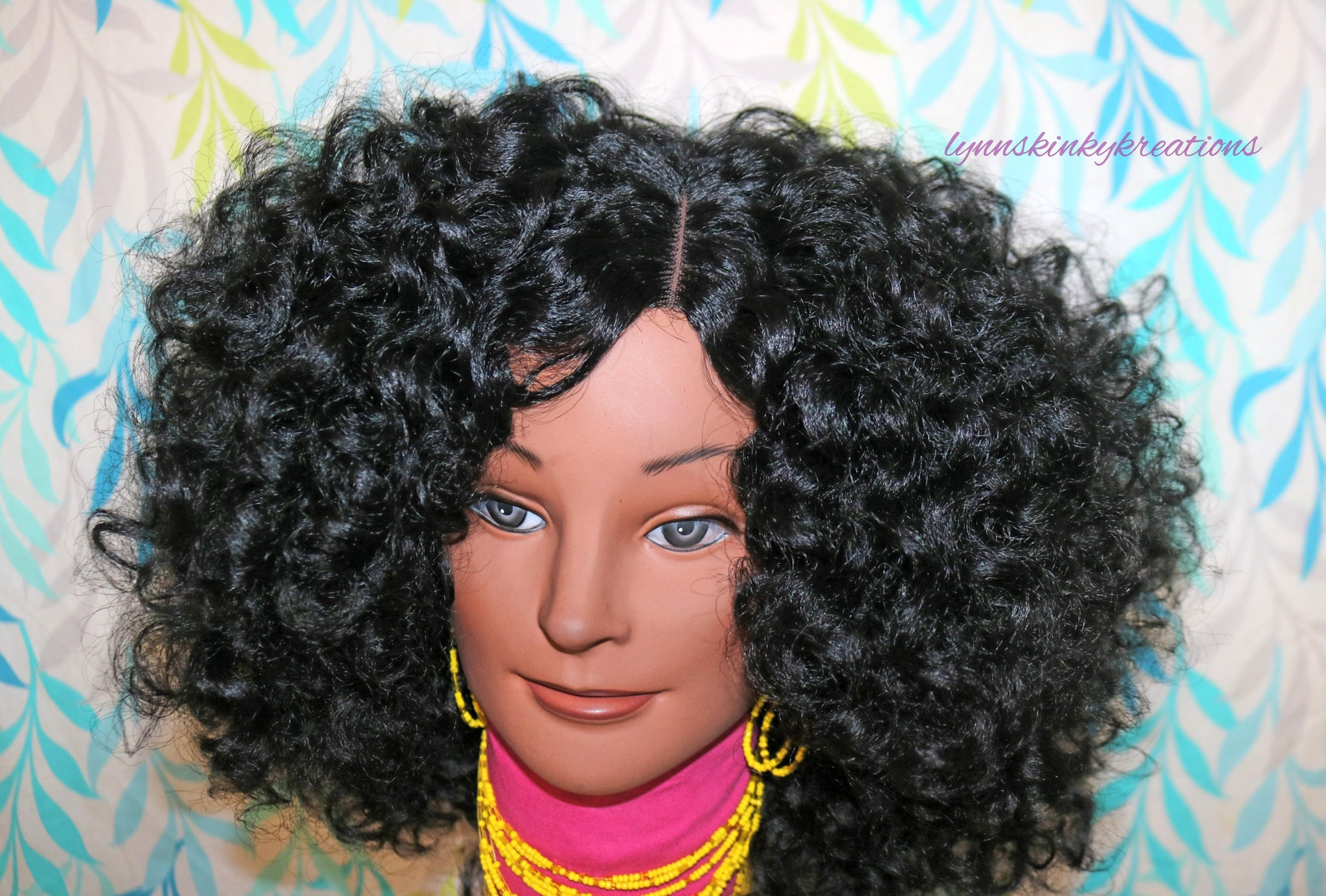 Ready To Ship Human Hair Blend Wig Twirly Texured Perm Rod Set