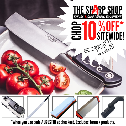 Savings on sharpening equipment and knives