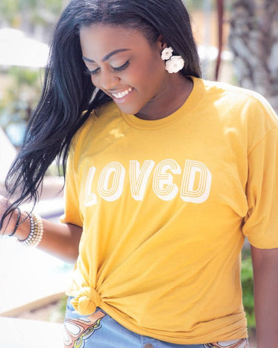 Loved By Him Tee - Modern Ruth