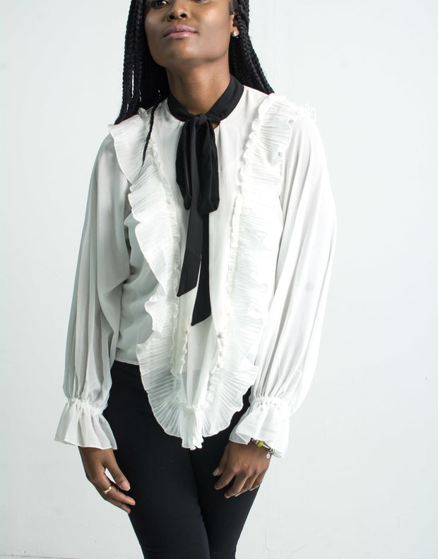 Dreamy Thoughts Long Sleeve Blouse - Modern Ruth