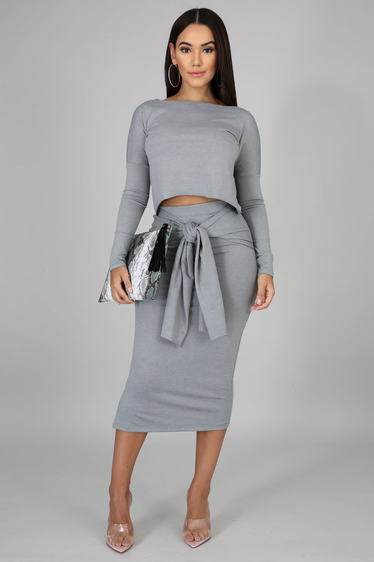 Vera Grey Skirt Set - Modern Ruth