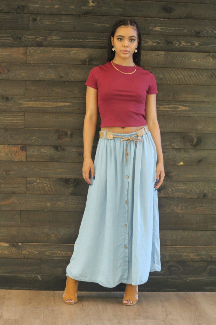 Denim Demi Skirt - Modern Ruth