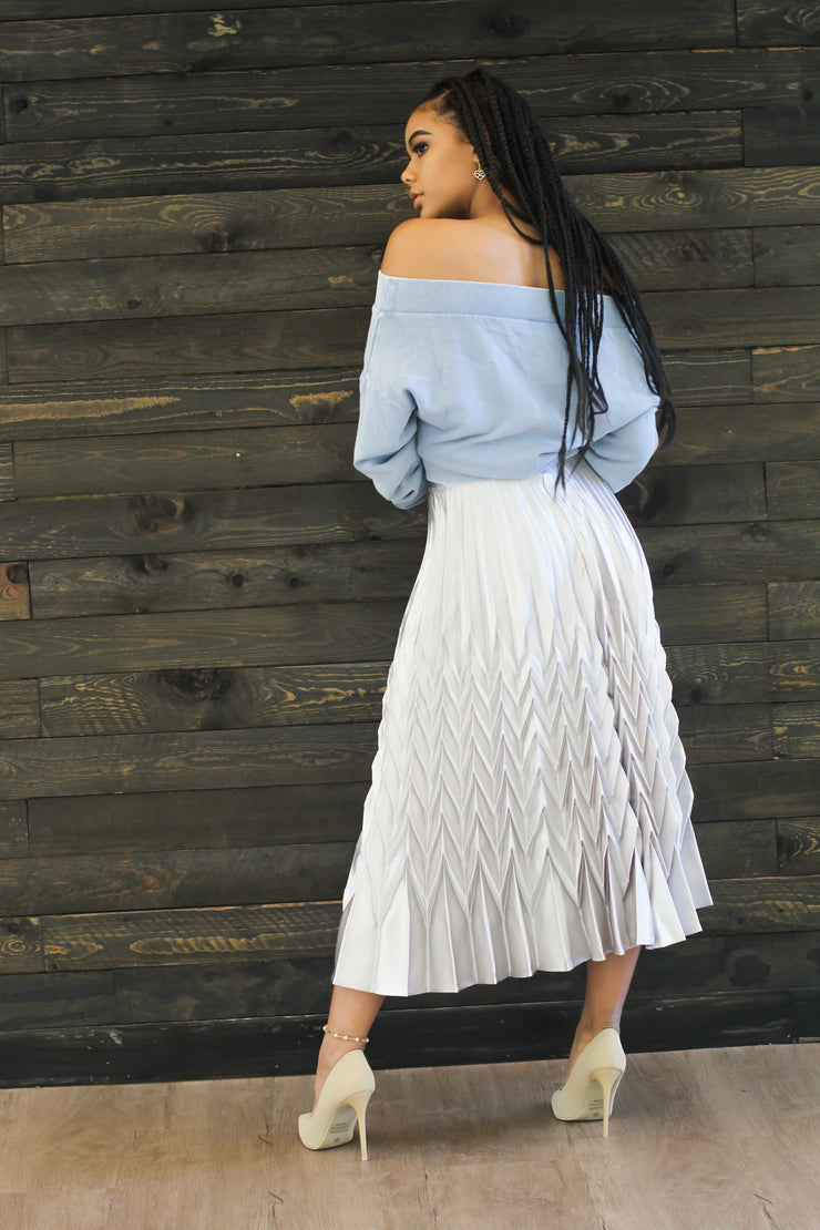In A Pleat Mood Skirt - Modern Ruth