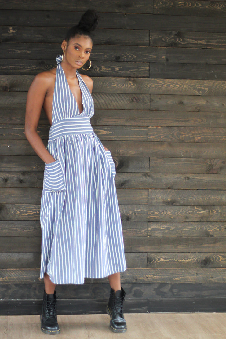 Check My Stripes Maxi Dress - Modern Ruth