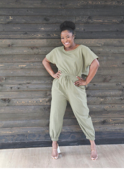Olive Cut Jumpsuit - Modern Ruth