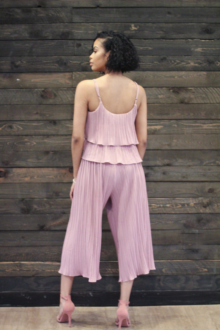 Blush Pleated Set - Modern Ruth