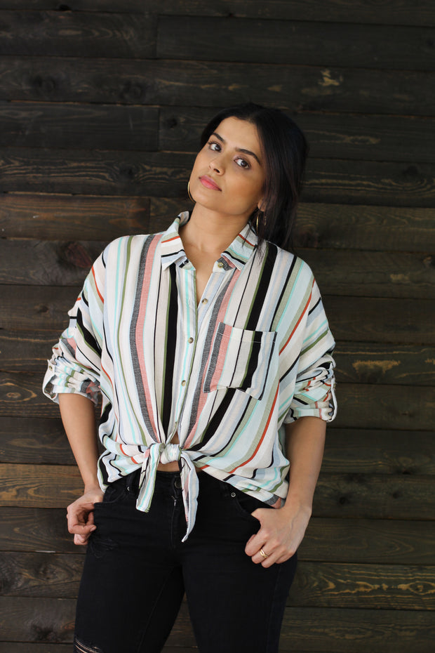 Sweet As Stripes Top - Modern Ruth
