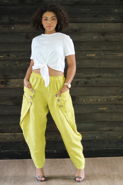 Sally Mustard High Waist Joggers - Modern Ruth