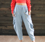 Sally Denim High Waist Joggers. - Modern Ruth