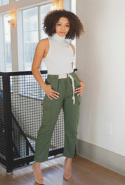 Catalina Cargo Pants (Olive) - Modern Ruth