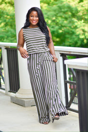 Stripe Jumpsuit - Modern Ruth