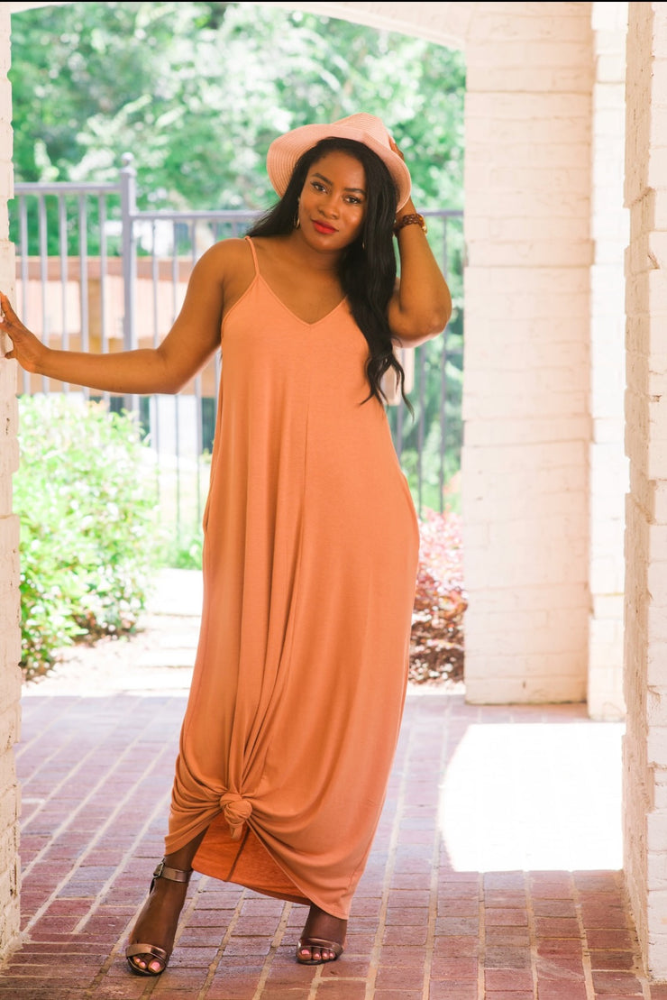Nude Pocketed Cami Dress - Modern Ruth