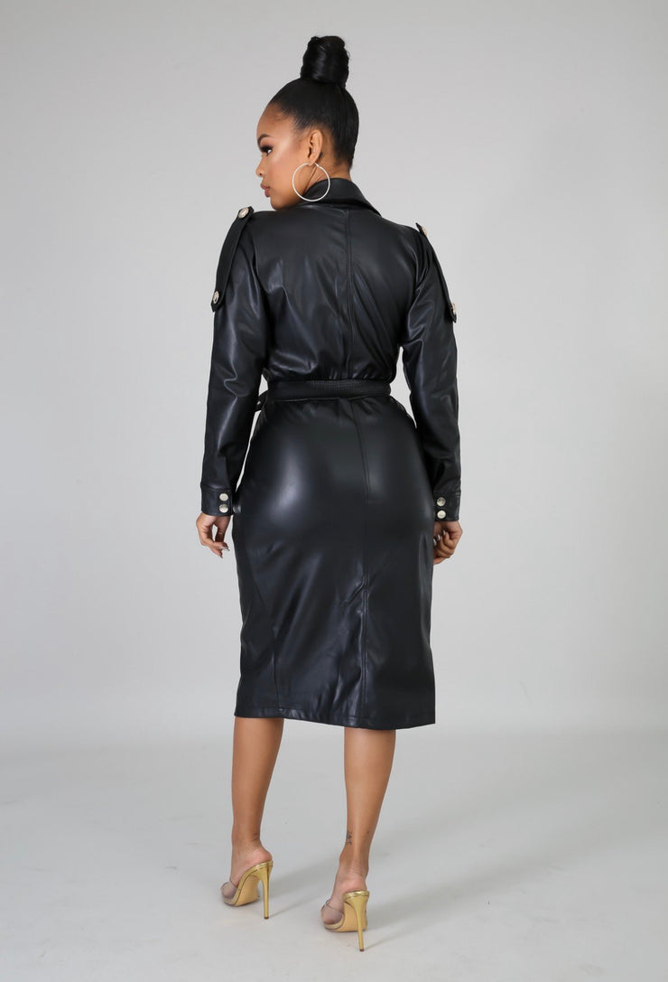 Lee Leather Dress - Modern Ruth
