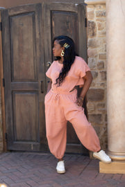 Mauve Cut Jumpsuit - Modern Ruth