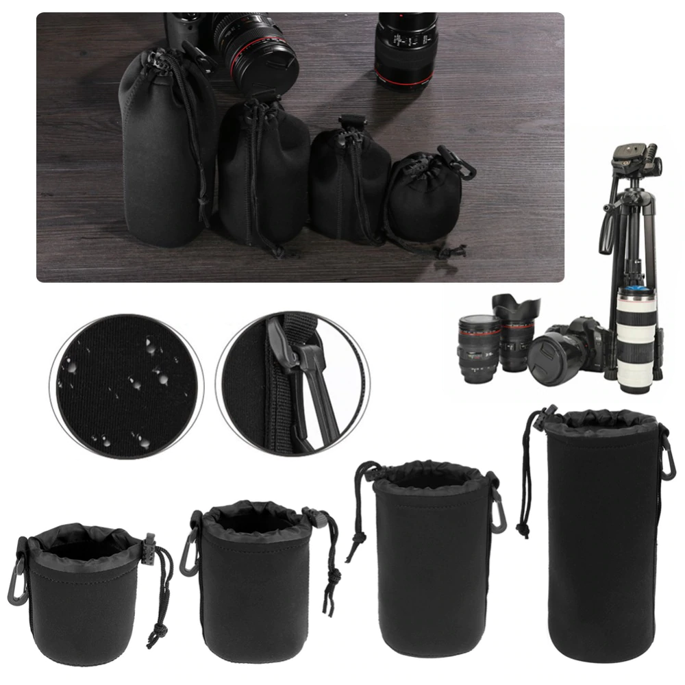 Camera Lens Pouch Neoprene Waterproof Protection