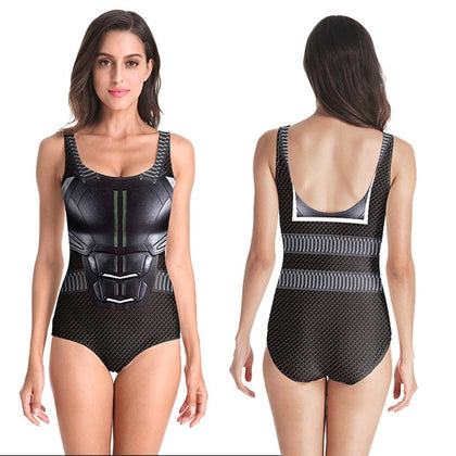 Batman Ladies Sleeveless Swimsuit
