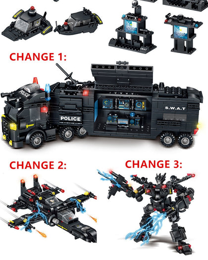 820 Pieces Police Transformation Action Figures