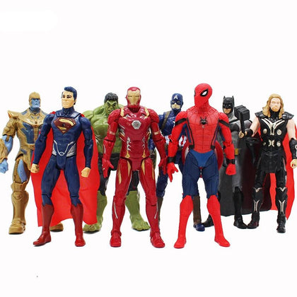 8 Piece Set Marvel Action Figures