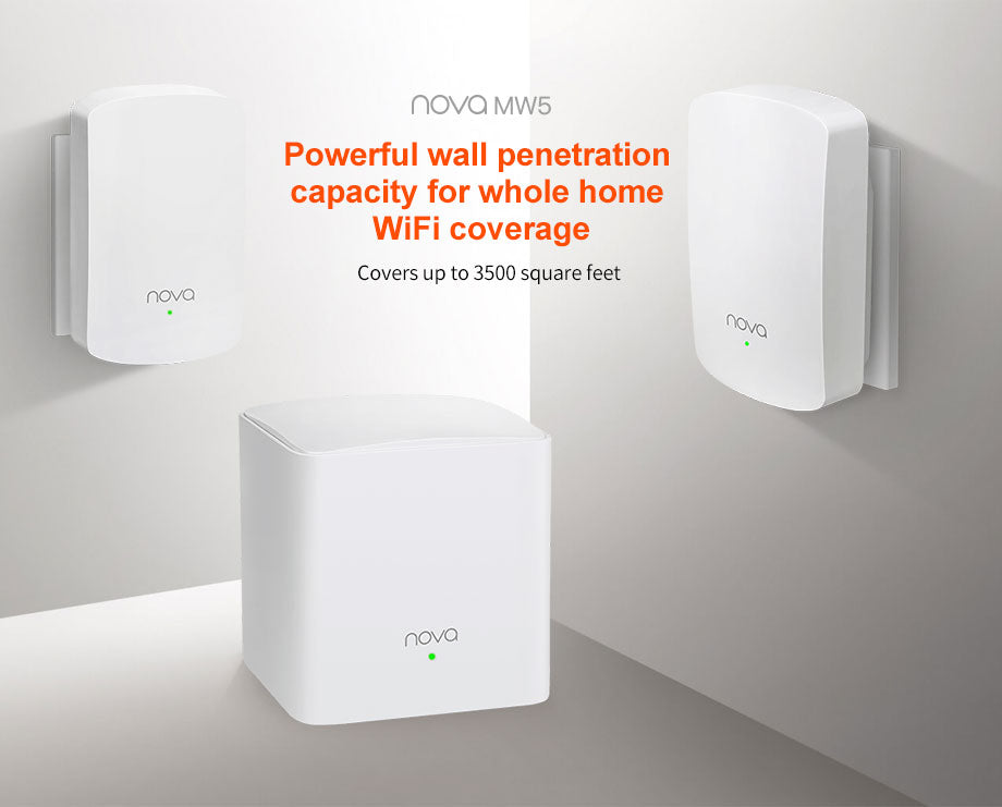 Tenda Nova MW5 AC1200 2.4Ghz/5Ghz Wireless Wifi Router Wi-Fi Bridge Mesh Wifi System