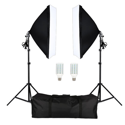 Photography Softbox Lightbox Kit 2 PCS E27 LED Photo Studio Camera Lighting Equipment