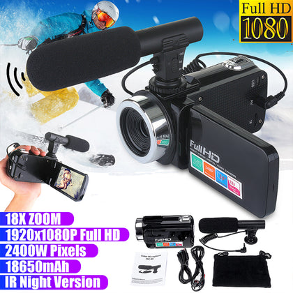 Professional Night Vision 3.0 Inch LCD Touch Screen 1080P HD Camcorder