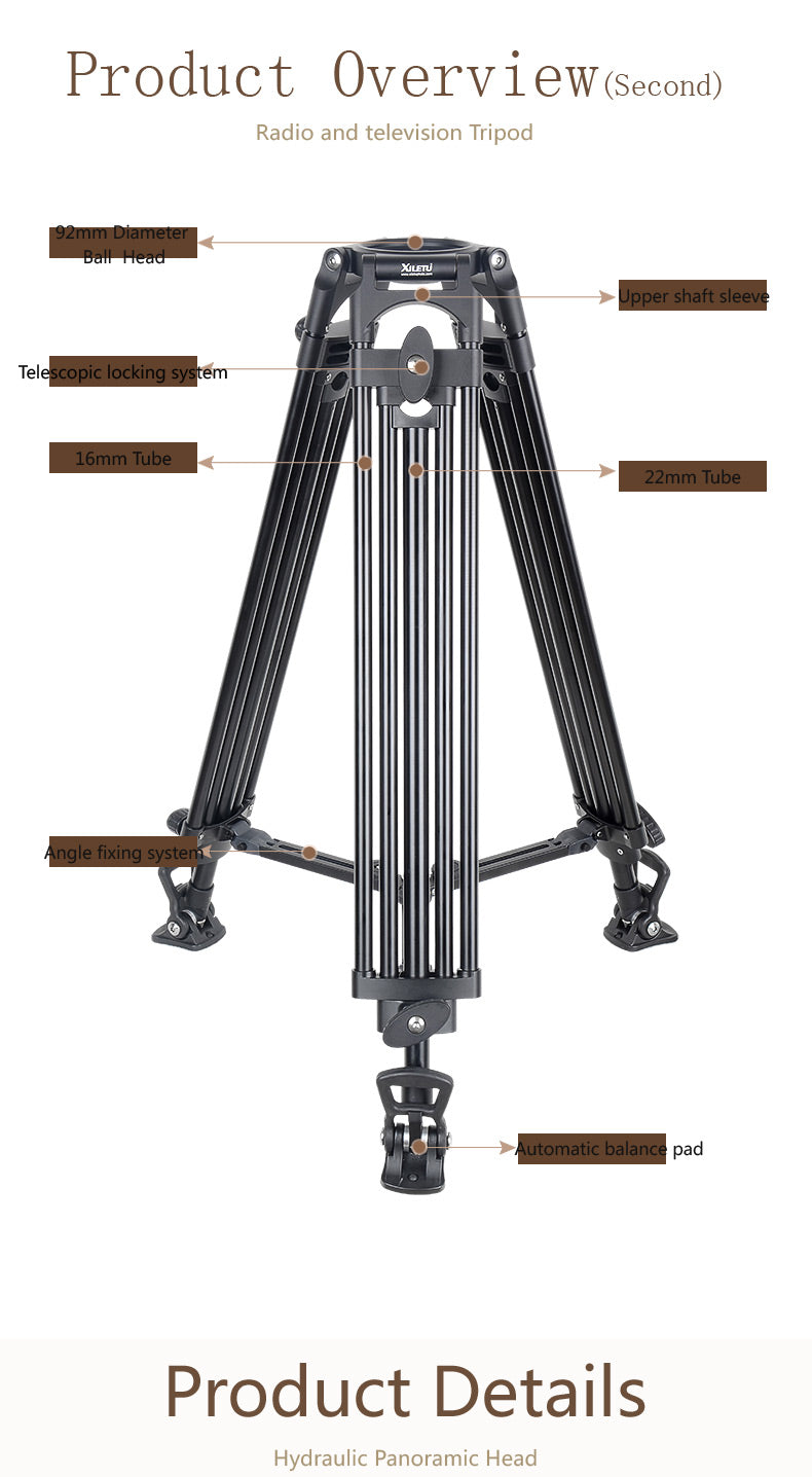 Professional Multi-function Tripod For Sachtler