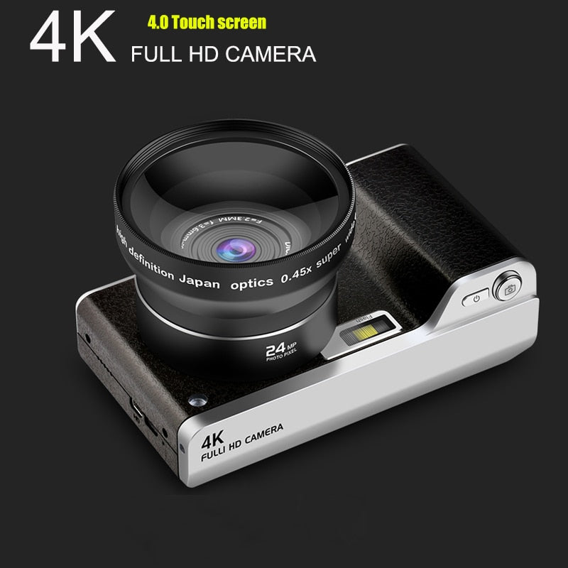 4.0 inch Digital Camera Full HD 1080P 24MP 8X Zoom Touch Screen