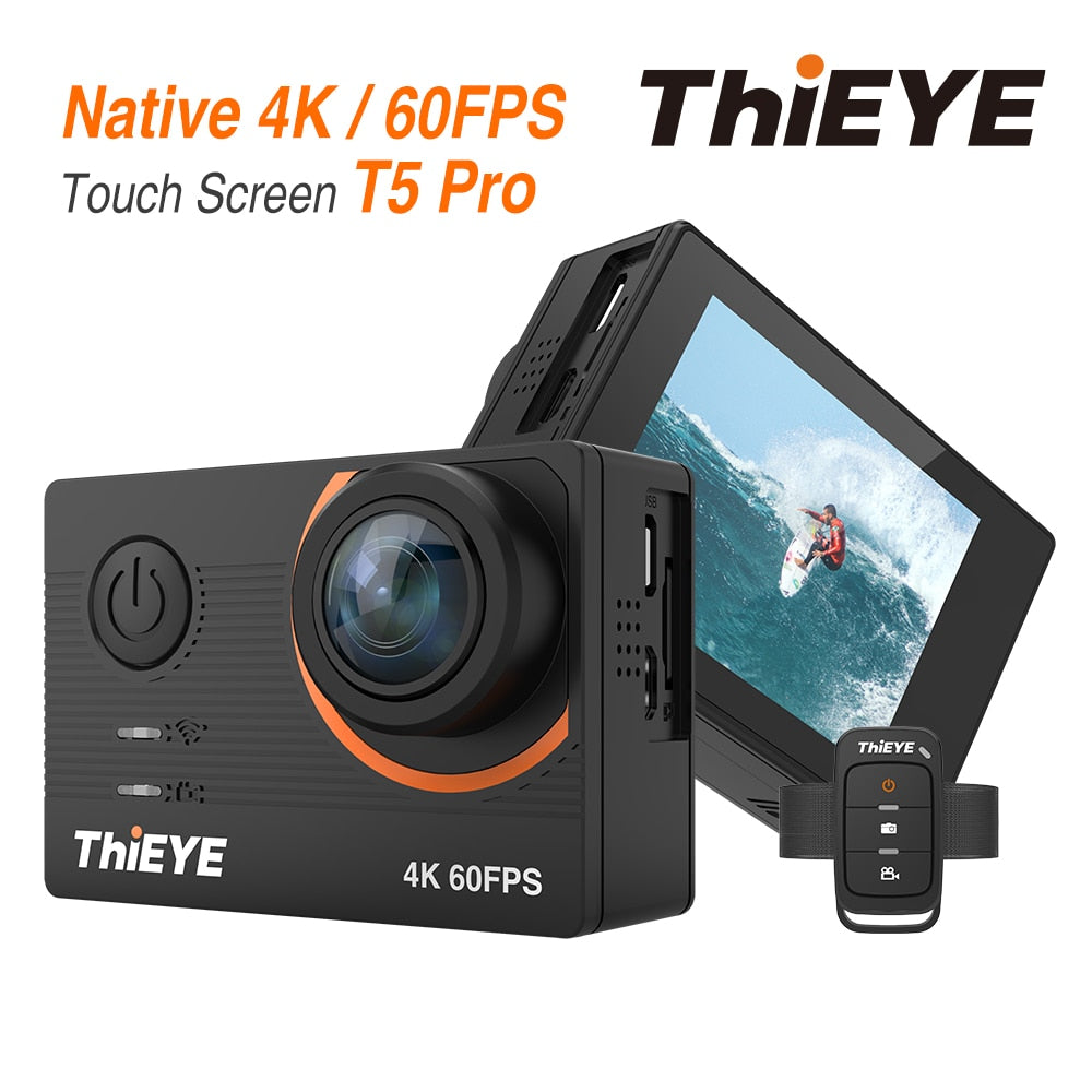 T5 Pro Ultra HD 4K 60fps Touch Screen WiFi Action Camera With Live Stream Remote Control