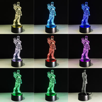 Iron Man 3D Night Lamp