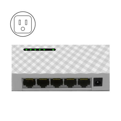 Mini 5-Port 4 way Desktop Gigabit Switch