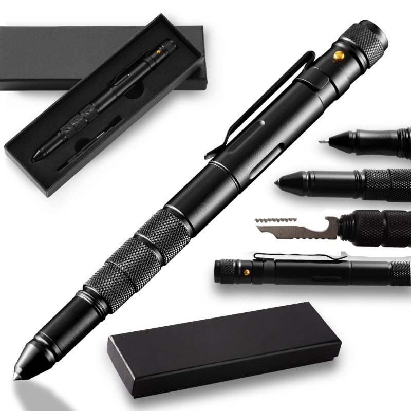 Multi-Function Tactical Flashlight Pen