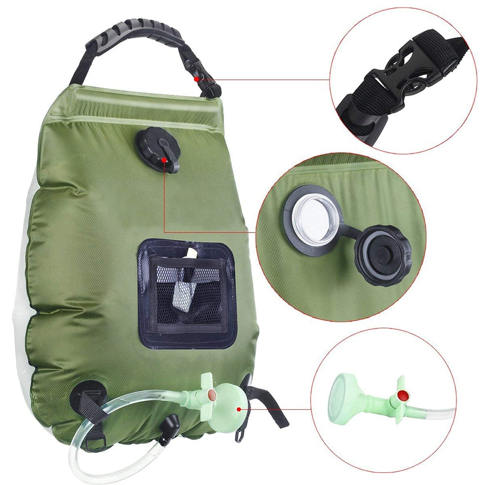 Solar Heating Camping Shower Bag 20L