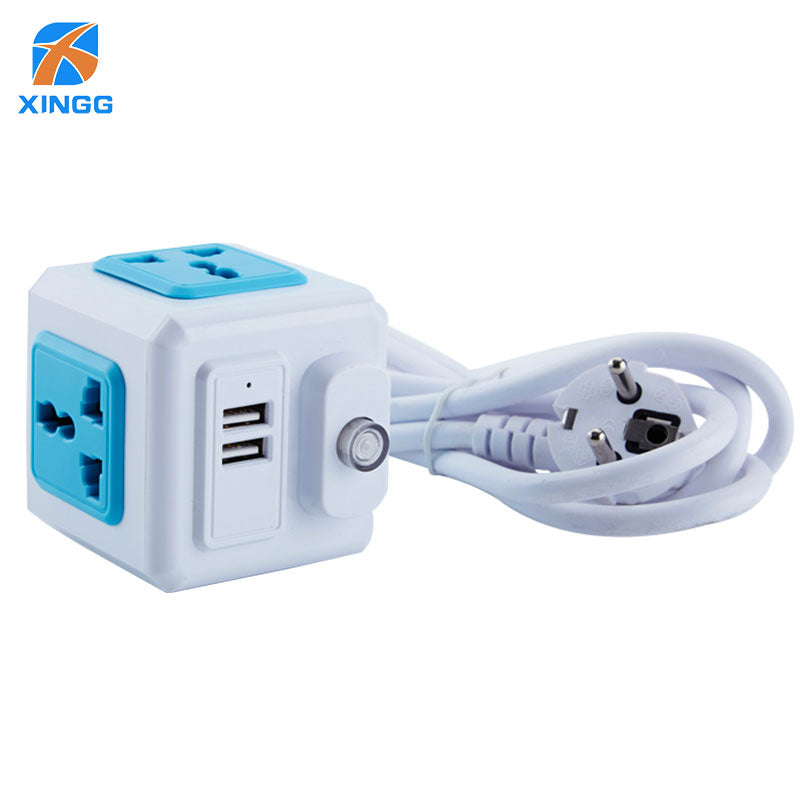 Multi Electronic Power Strip Universal Outlet Power Switch Socket