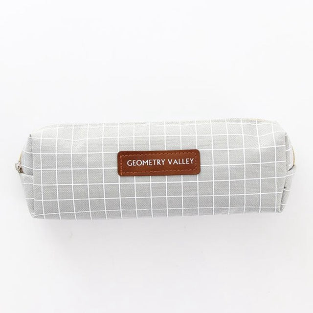 Grid Style Student Pencil Case