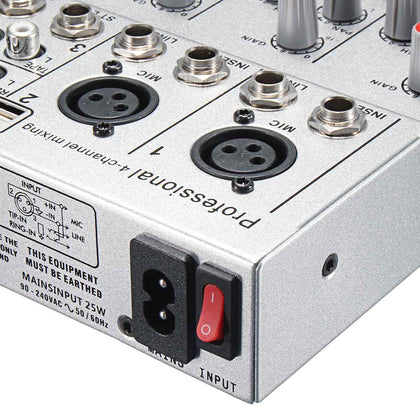 Leory 4 Channel Audio Mixer