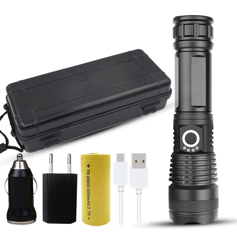 Shock Resistant Powerful Rechargeable Flashlight