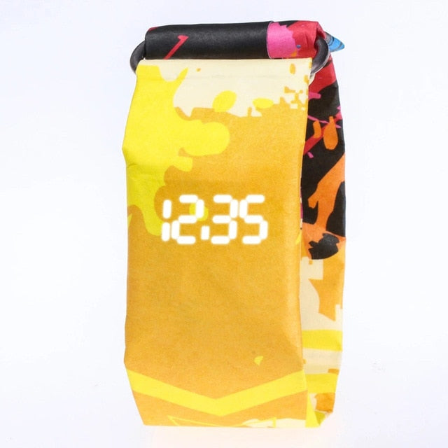 Creative Trend Paper LED Digital  Watch