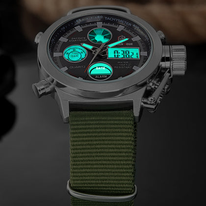 Digital Analog Sports Watch with Nylon Strap
