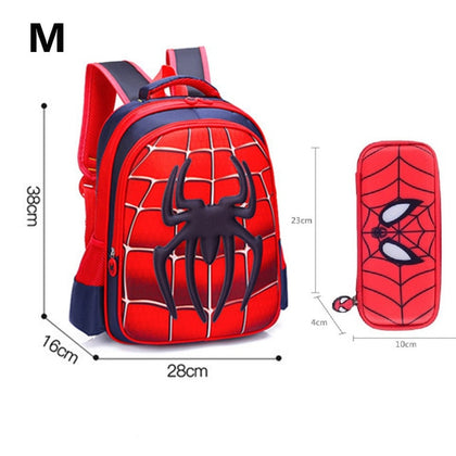 Ultra Light Spiderman School Bag with Pencil Case