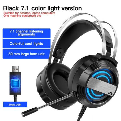 Colorful Gaming Headphones with Microphone