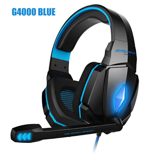 Wired Gaming Headphones with Deep Bass and Microphone