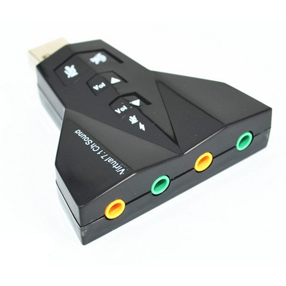 Virtual 7.1 External USB Sound Card