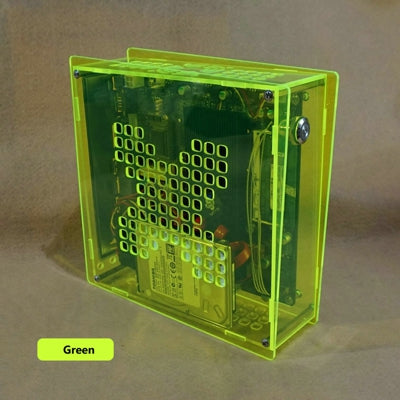 Simple Transparent Mini Computer Case with 84W Power Supply