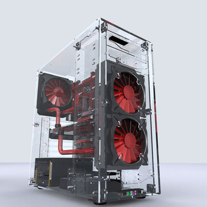 All Transparent Acrylic Vertical Computer Case