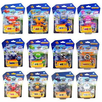 Mini Super Wings Deformation Aircraft Action Figures