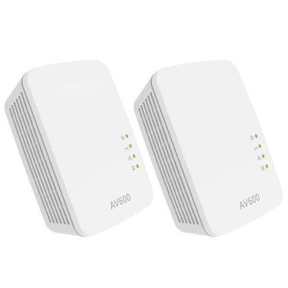 1Pair 600Mbps Powerline Starter Kit Network Adapter