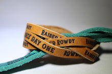 Load image into Gallery viewer, Rowdy Since Day One Leather Wristbands