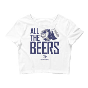 All The Beers Women's Crop Tee