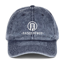 Load image into Gallery viewer, Raised Rowdy Vintage Cotton Twill Cap (Denim Style)